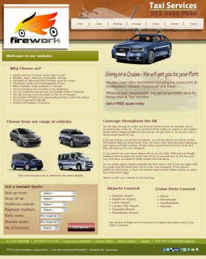 Taxi Services for X6 Full Size (For Serif WebPlus X6)