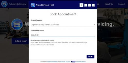 Mobirise V4 Auto Vehicle Service System Template