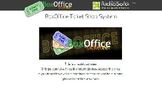 BoxOffice Ticketeer Plug-In System for WebPlus X8
