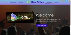 BoxOffice Ticketeer Template System V5 for Mobirise V4 or Later