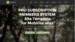 Mobirise PRO Subscription Membership System Template for v3.08 to 3.12.1 from RichoSoft Squared