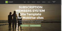 Mobirise Subscription Membership System Template for v3.08 to 3.12.1 from RichoSoft Squared