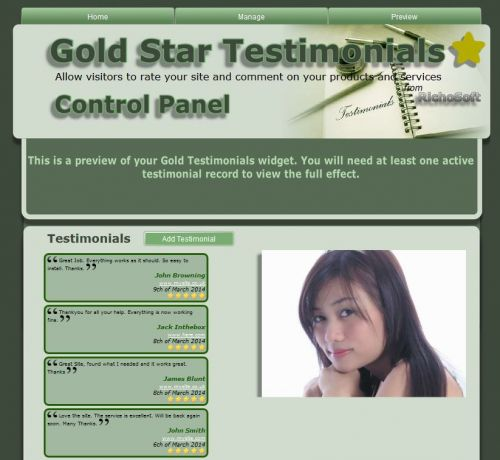 Gold Star Testimonials X7 (for Serif WebPlus X7)
