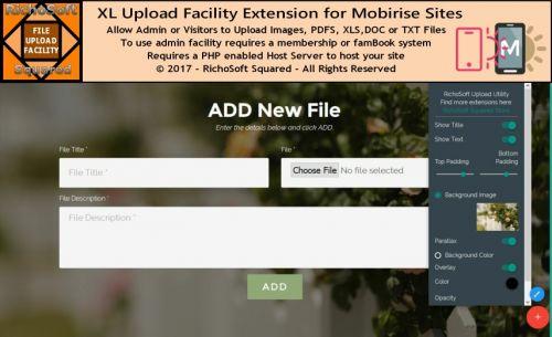 Mobirise FileUpload Utility Extension