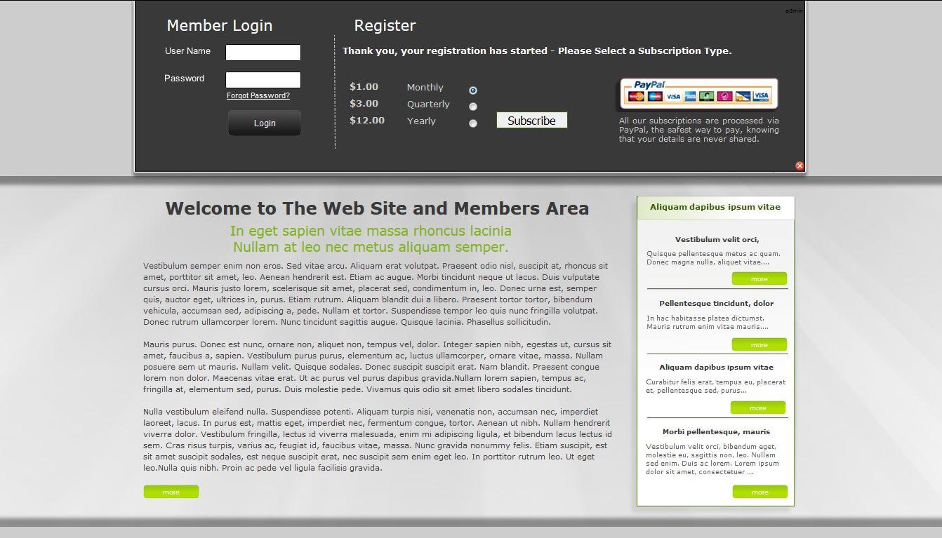 Web Site +Subs Members Area X8 (For Serif WebPlus X8) - RichoSoft ...