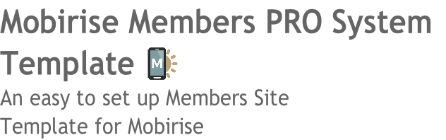 Mobirise Members PRO System
