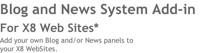 Blog and News System Add-in 