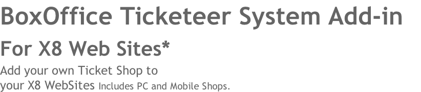 BoxOffice Ticketeer System Add-in 