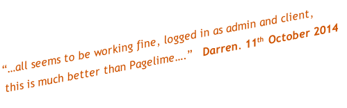 """…all seems to be working fine, logged in as admin and client, 